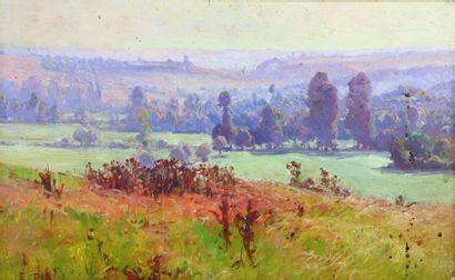 Edouard PAIL (1851-1916).  Paysage nivernais....