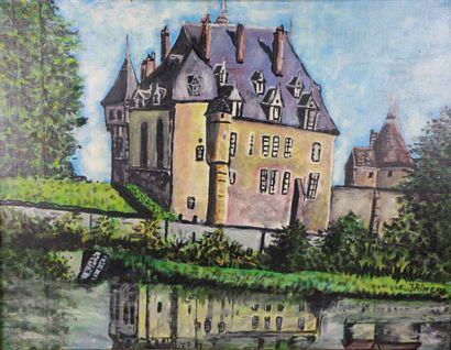 J. RINEAU.  Chateau de Châtillon en Bazois....