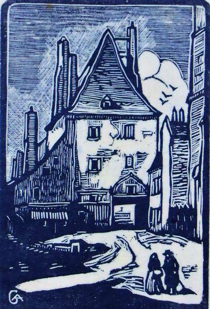 André CARROY (1910-1975).  La Charité sur...