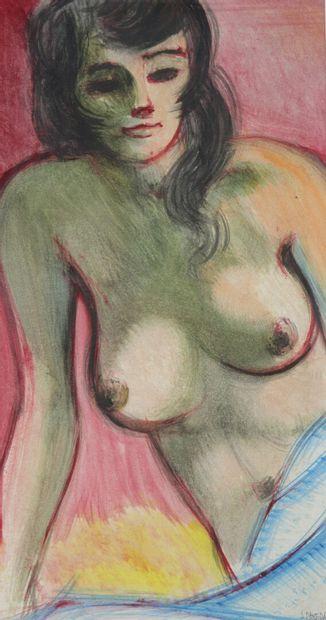 Antoine PANEDA (1929).  La belle dénudée....