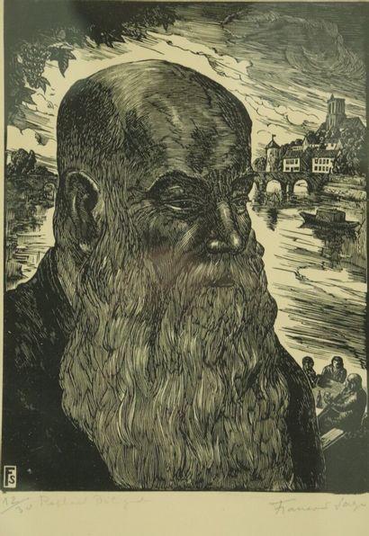 François SAGE (né en 1901).  Portrait du...