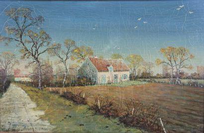 Michel BESZIE (né en 1940).  Maison en nivernais....