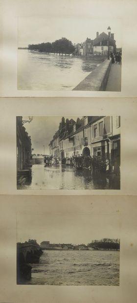 La crue à la Charité-sur-Loire, en septembre...
