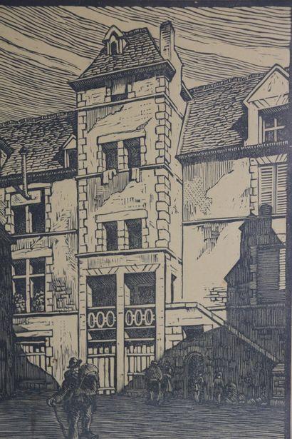 Etienne GAUDET (1891-1963).  Nevers, cours...