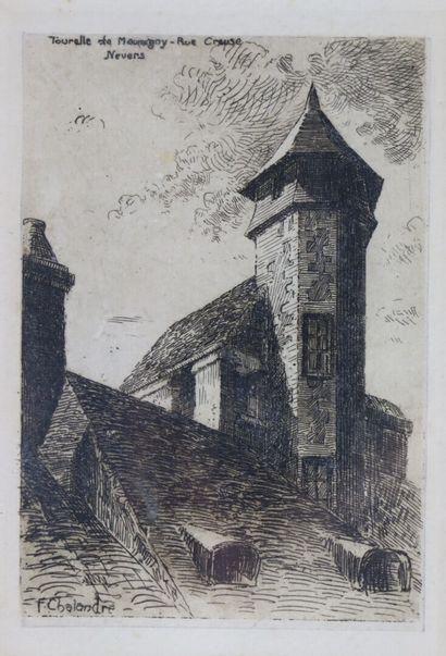 Fernand CHALANDRE (1879-1924).  Nevers, tourelle...