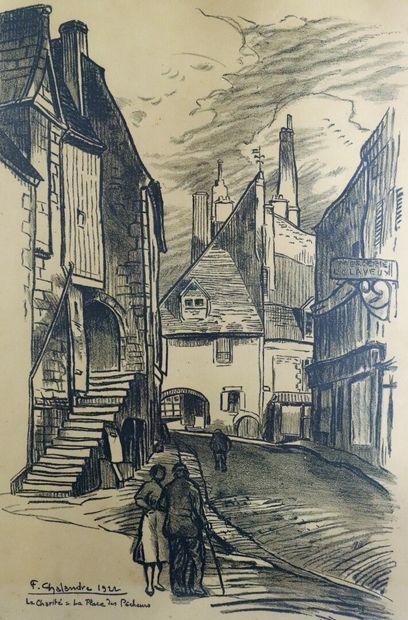 Fernand CHALANDRE (1879-1924).  La Charité...
