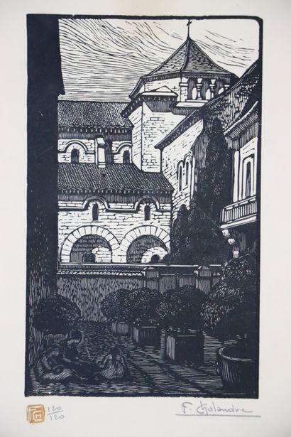 Fernand CHALANDRE (1879-1924).  Nevers, l'église...
