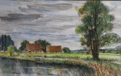 Antoine PANEDA (1929).  Près de l'étang....