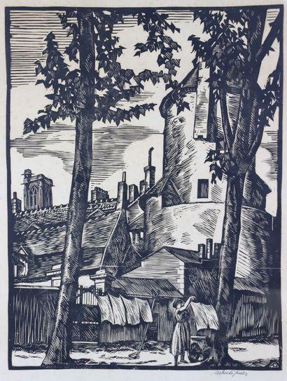 André DESLIGNERES (1880-1968).  Nevers, Femme...