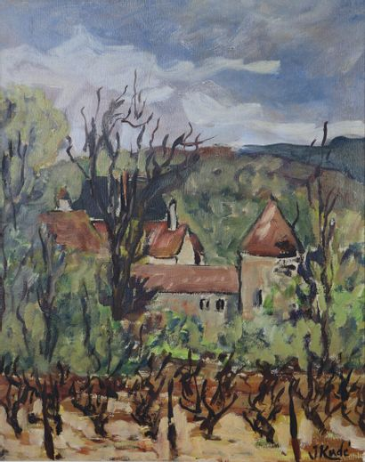 Jean KORDE (1921-2018).  Le château dans...