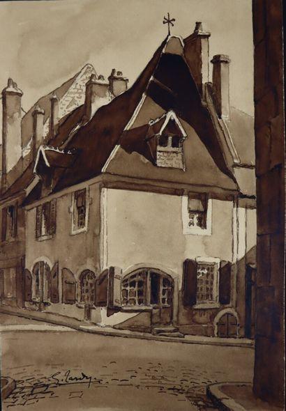 Georges TARDY (1885-1980).  La Charité sur...