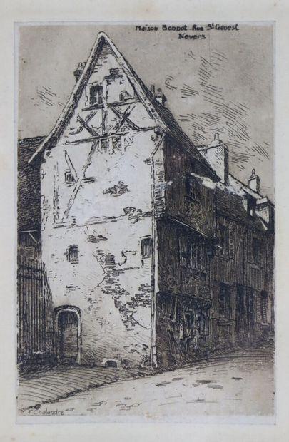 Fernand CHALANDRE (1879-1924).  Maison Bonnot...
