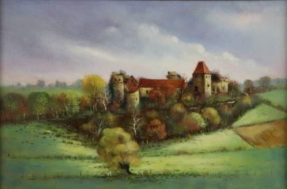 Antoine PANEDA (1929).  Château en nivernais....