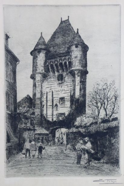 Charles Jean FORGET (1886-1960).  Nevers,...