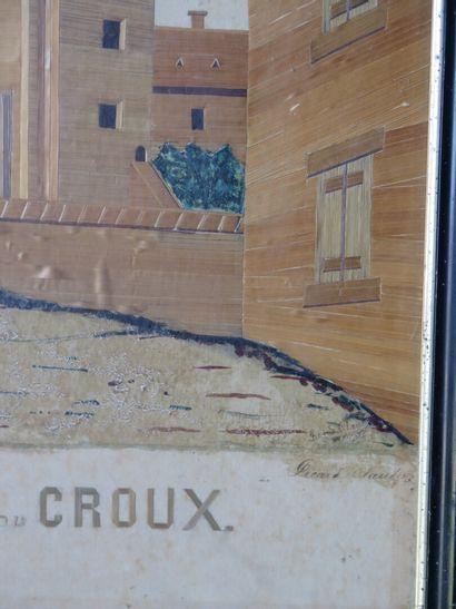 Travail nivernais de la fin du XIXème siècle.  Nevers, la Porte du Croux.  Rare...