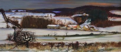Antoine PANEDA (1929).  Paysage nivernais...