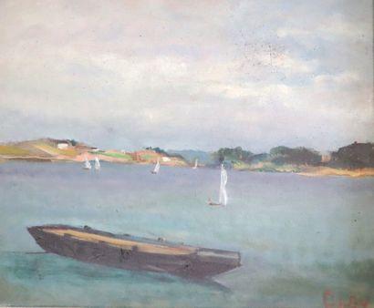 Olga OLBY (1900-1990).  Bretagne.  Huile...