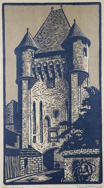Paul DEVAUX (1894-1949).  Nevers, la Porte...