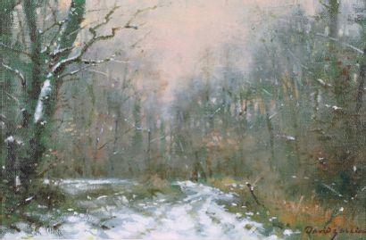 David GARCIA (né en 1950).  Effet de neige...