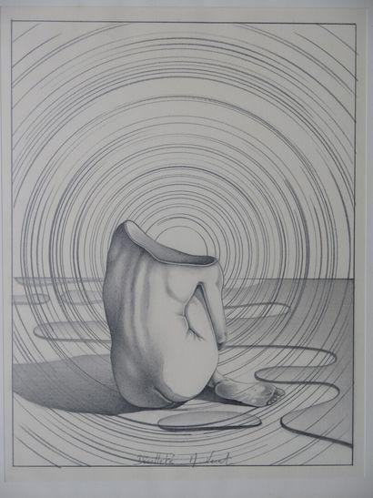 Marc VERAT (né en 1951).  Décolleté.  Dessin...