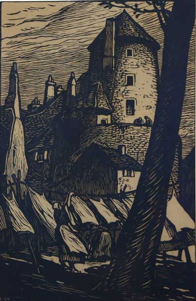 Fernand CHALANDRE (1879-1924).  Les lavandières...