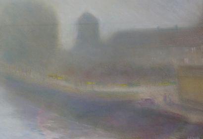 Antoine PANEDA (1929).  Brume matinale à...