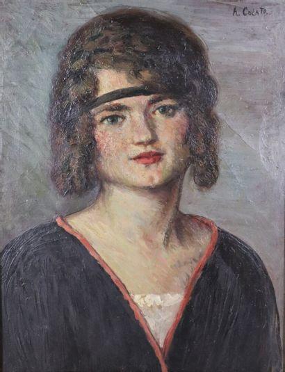 Arduido COLATO (1880-1954).  Portrait de...