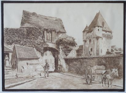 Léopold ROBIN (1877-1939), attribué à.  Nevers,...