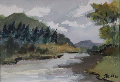 Jean KORDE (1921-2018).  Le lac des Settons....