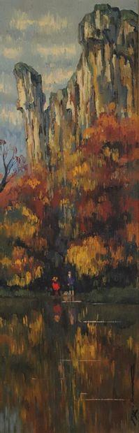 REX BARRAT (1914-1974).  Reflets d'automne...