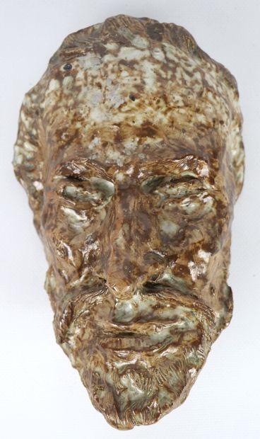 Pierre MIRAULT (1899-1982).  Masque de Louis...