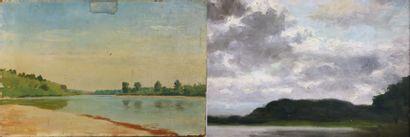 Henri DIF (1864-1929).  Paysages.  Réunion...