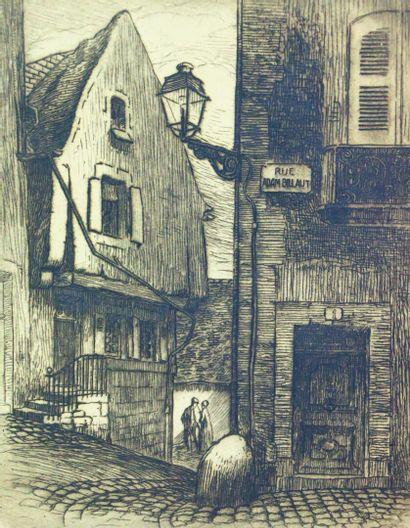 Fernand CHALANDRE (1879-1924).  Rue Adam...