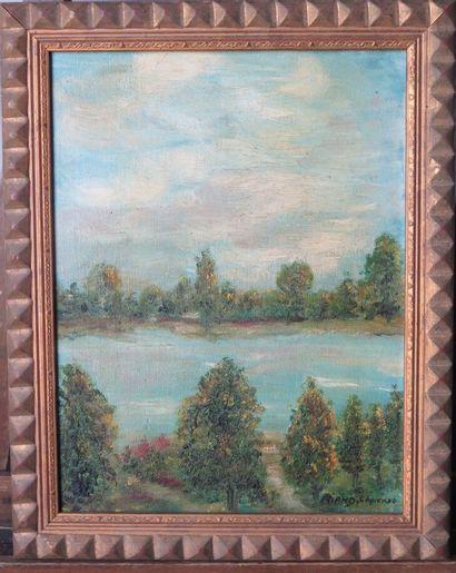 Jacqueline RIAND (née en 1942).  Paysage...