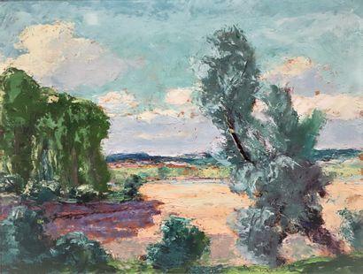 Pierre MIRAULT (1899-1982).  Bords de Loire....