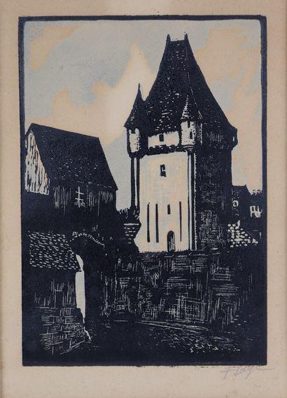 François SAGE (né en 1901).  Nevers, la Porte...