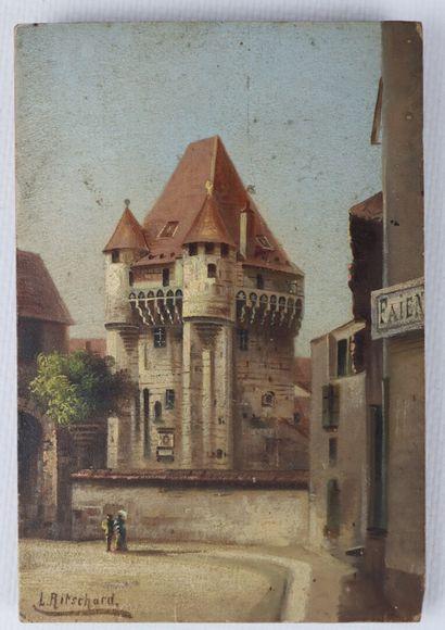Hubert SATTLER (1817-1904).  Nevers, la Porte...