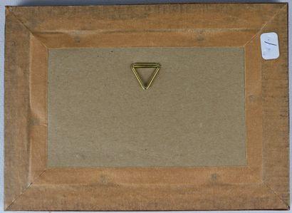 Fernand CHALANDRE (1879-1924).  Projet pour le menu du mariage LD, Palais Ducal,...
