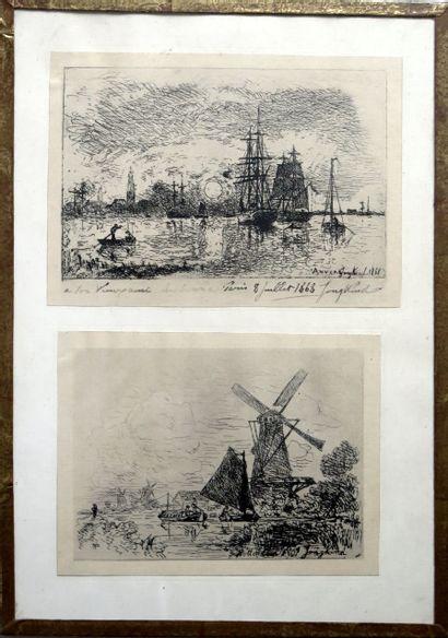 Johan Barthold JONGKIND (1819-1891).  Soleil...