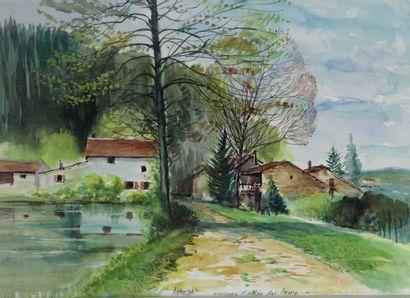 Antoine PANEDA (1929).  Moulin de Bruy, Morvan....