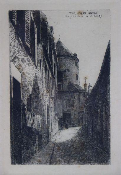 Fernand CHALANDRE (1879-1924).  Nevers, tour...