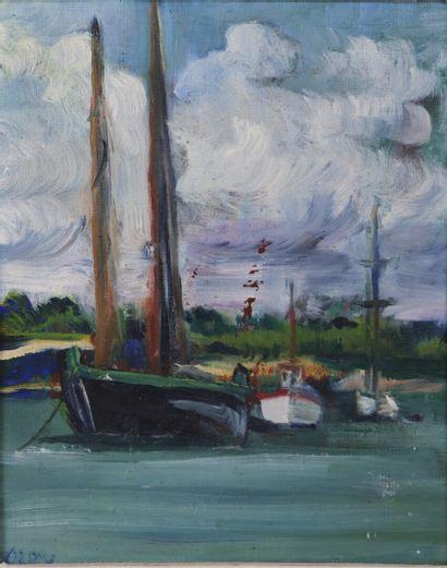 Olga OLBY (1900-1990).  Sinagot et bateau....