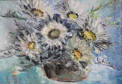 Colette JOURNIAC (1929-2005).  Bouquet de...