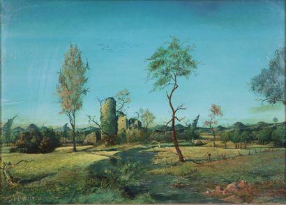 Pierre DANCETTE (1928-2010).  Paysage à la...
