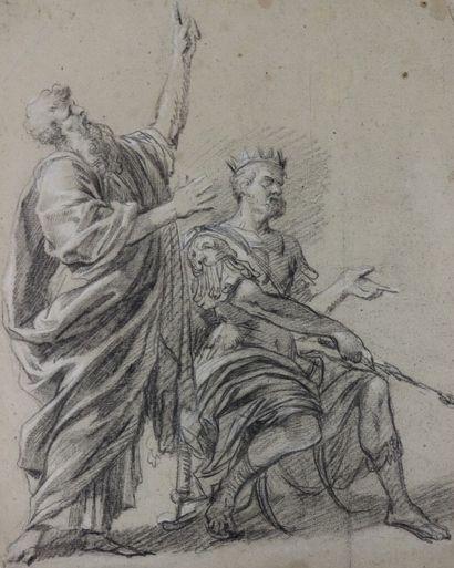 Ecole française vers 1700  Recto : scène...