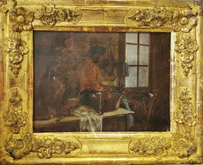 A. BELHOMME - Actif au XIXème siècle.  Femme...