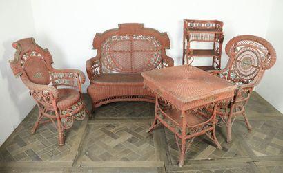 Ensemble de mobilier de jardin ou de véranda...