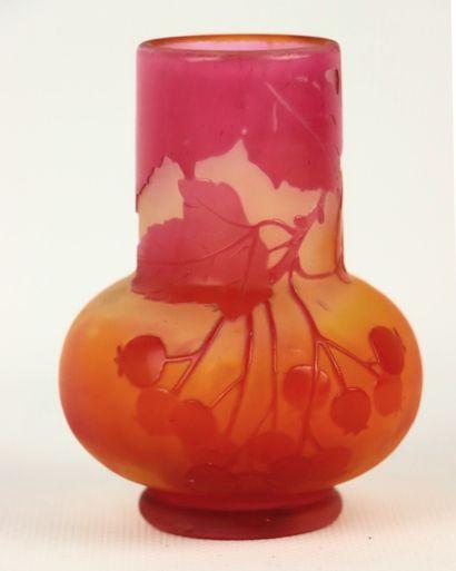 Etablissement GALLE.  Vase pansu à col large...