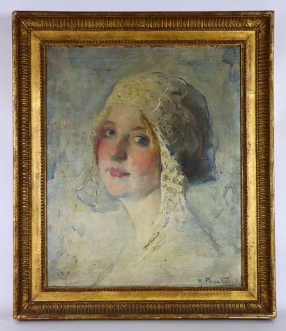 Marcial PLAZA-FERRAND (1876-1948).  La mariée....