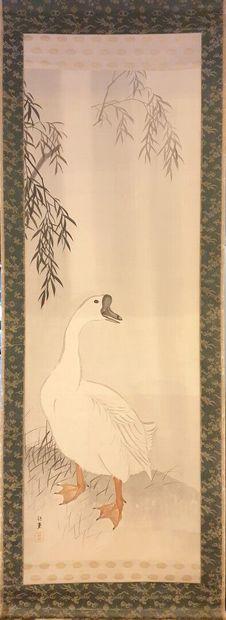 JAPON, période Meiji (1868-1912).  Kakemono...